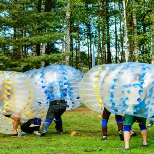bubble football krakow